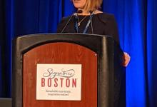 Anna Middleton presenting at the Patient Perspective Breakout Session, GA4GH 7th Plenary, Boston, USA