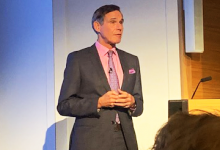 A still of Dr Eric Topol captured by Anna Middleton at the Topol Review launch, London, 11 February 2019