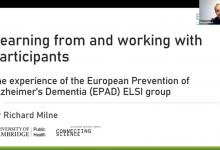 ELSI Conference slide The Experience of the European Prevention of Alzheimer's Dementia