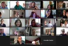 A Zoom still from our first virtual collaborator meeting, 21 September 2020